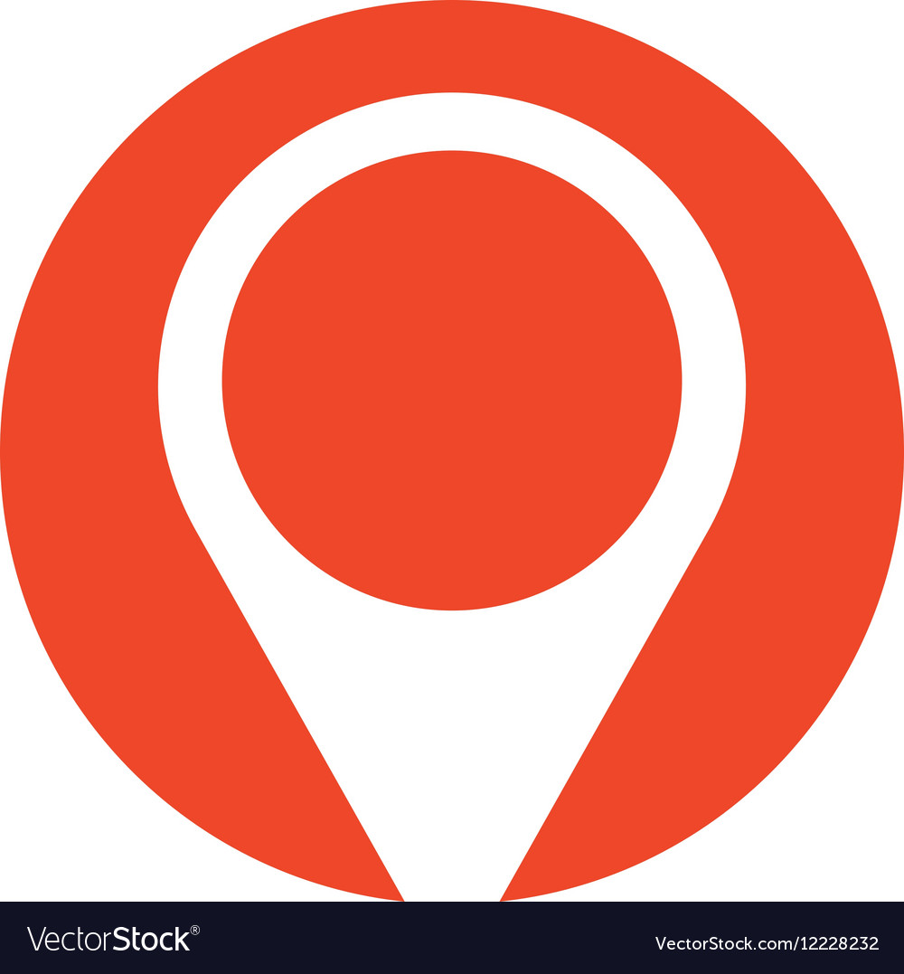 Pin map pointer location symbol red circle vector image buycottarizona Image collections