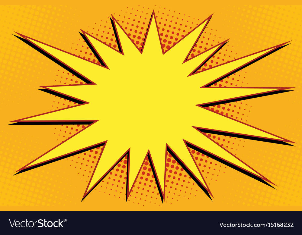 Pop art comic splash orange vector image