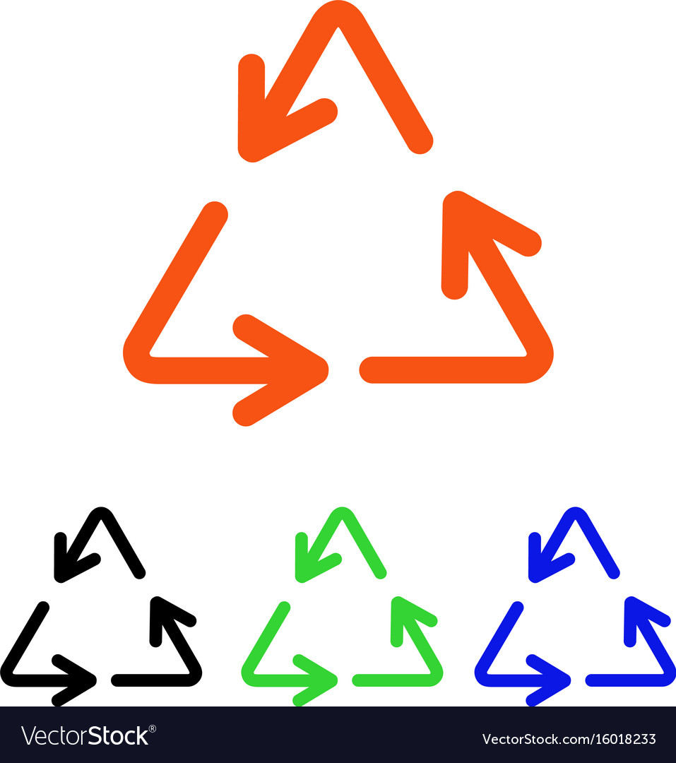 Recycle arrows flat icon vector image