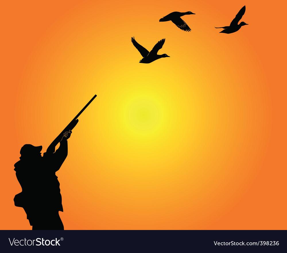 Duck hunter vector image