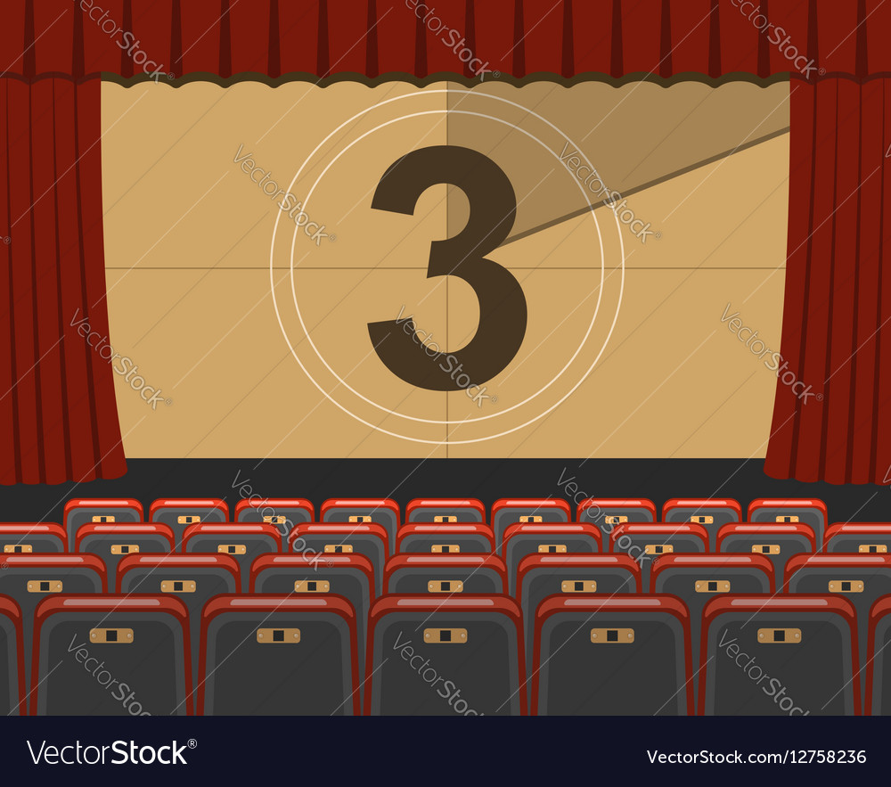 Cinema auditorium with seats vector image