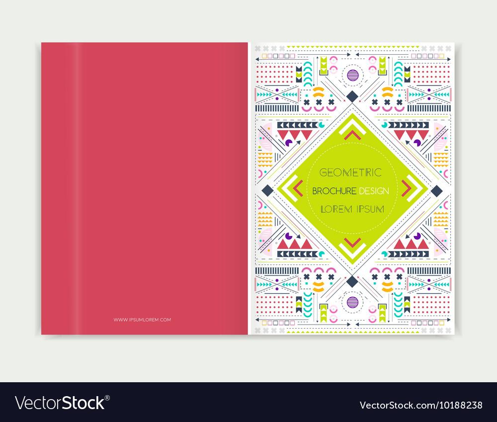 Cover design for Brochure leaflet flyer Modern vector image