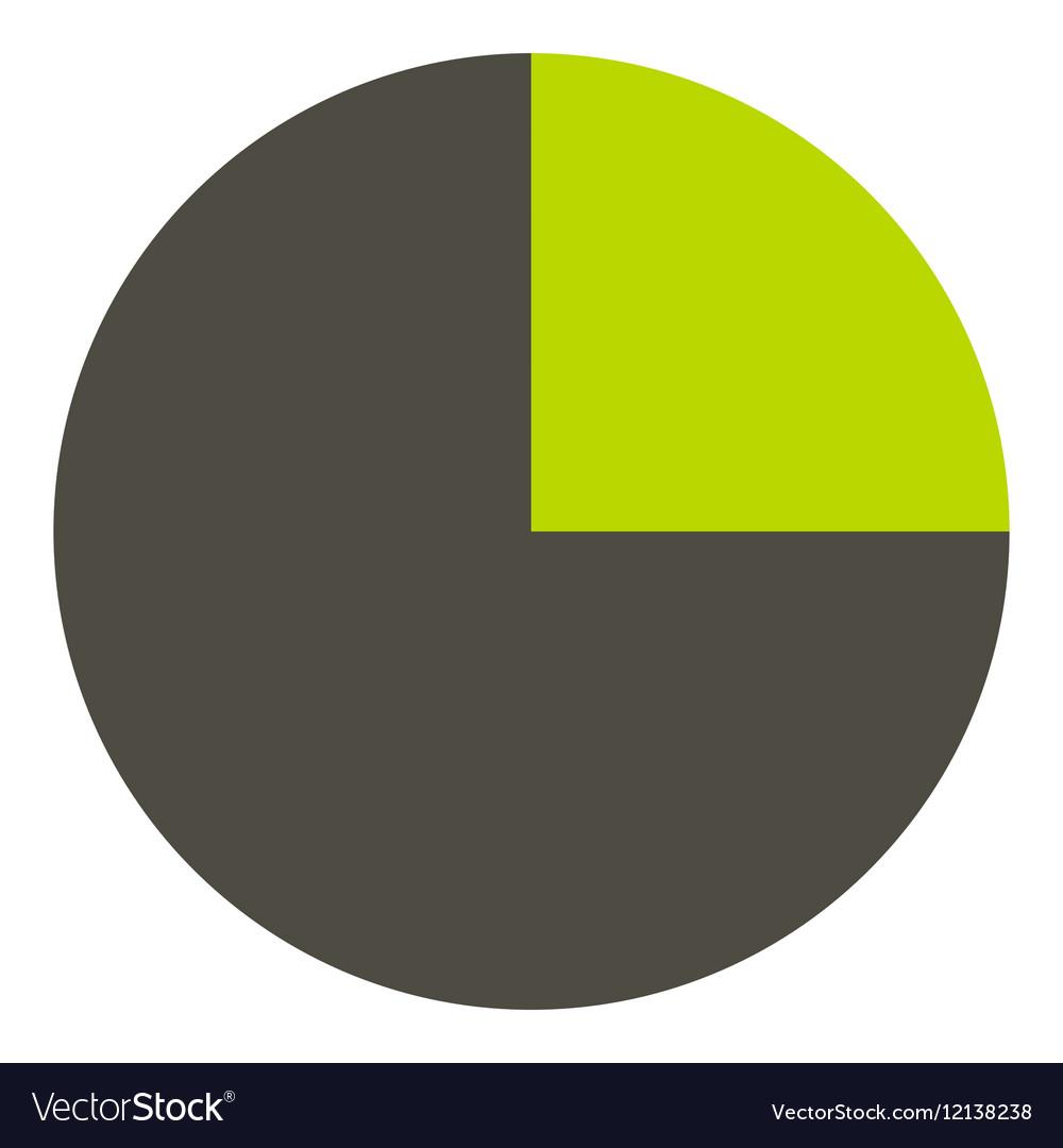 Half diagram infographics flat style vector image