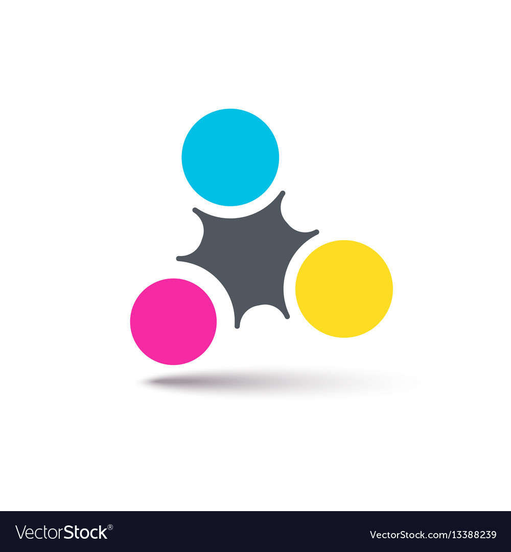 Cmyk abstract logo simple abstract logotype for vector image