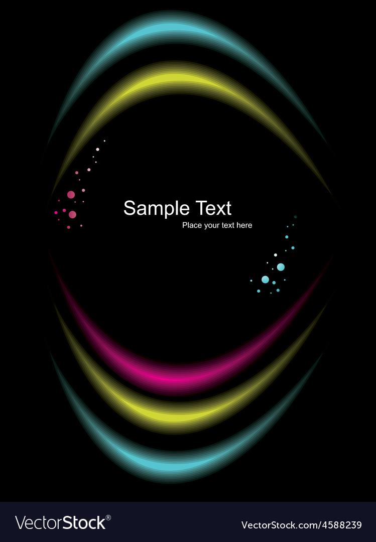 Light effect on dark background vector image