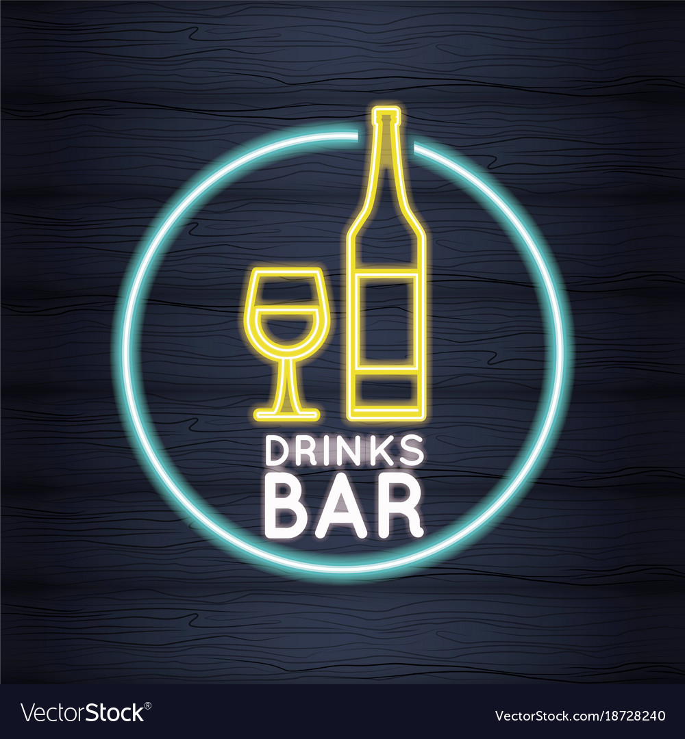 Drinks bar neon lights royalty free vector image drinks bar neon lights vector image aloadofball Gallery
