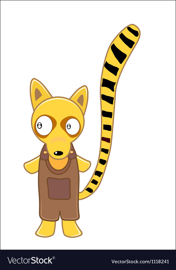 Lemur cartoon Vector Image