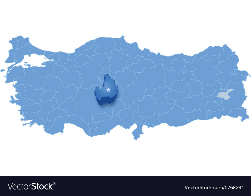 Map of Turkey Aksaray Royalty Free Vector Image