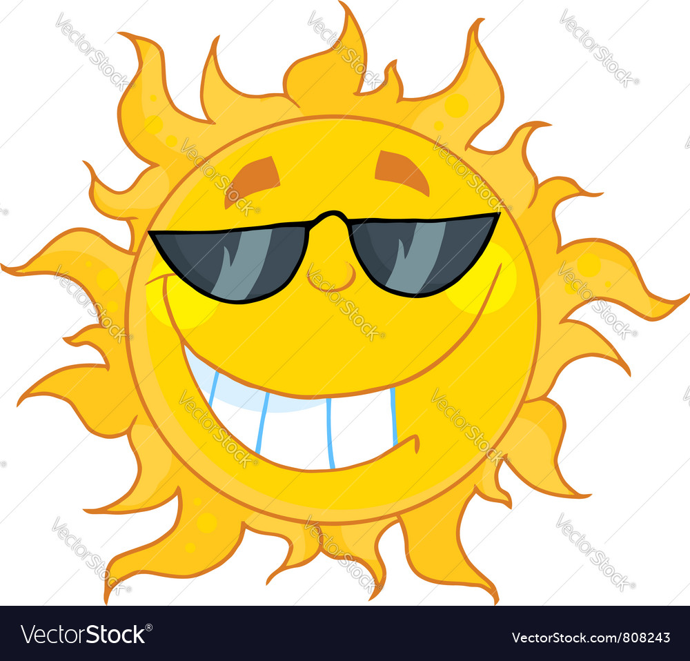 Smiling sun images - Smiling Sun With Sunglasses Vector Image