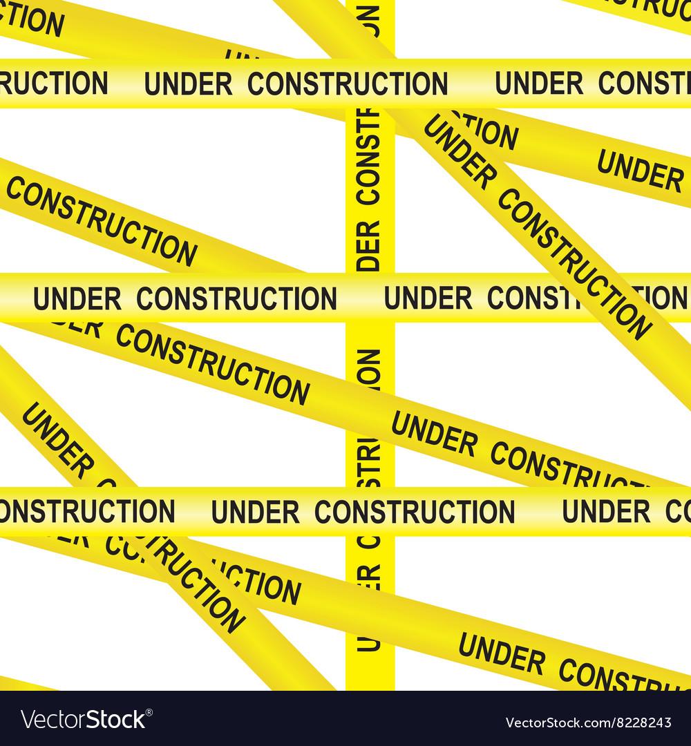 Under construction caution tape entrance vector image