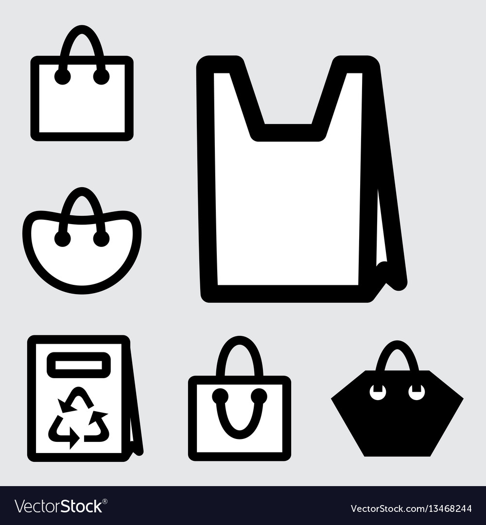 Shopping bag icons vector image
