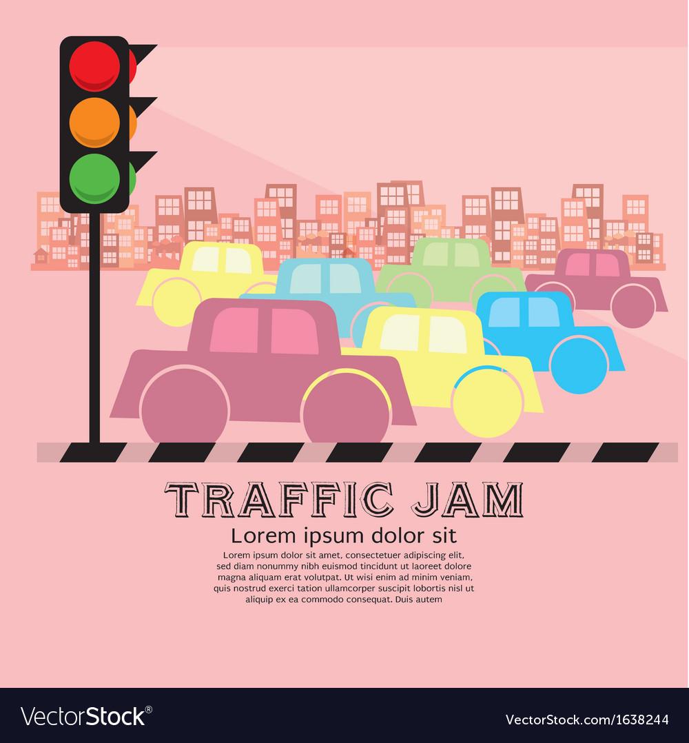 Traffic Jam EPS10 vector image