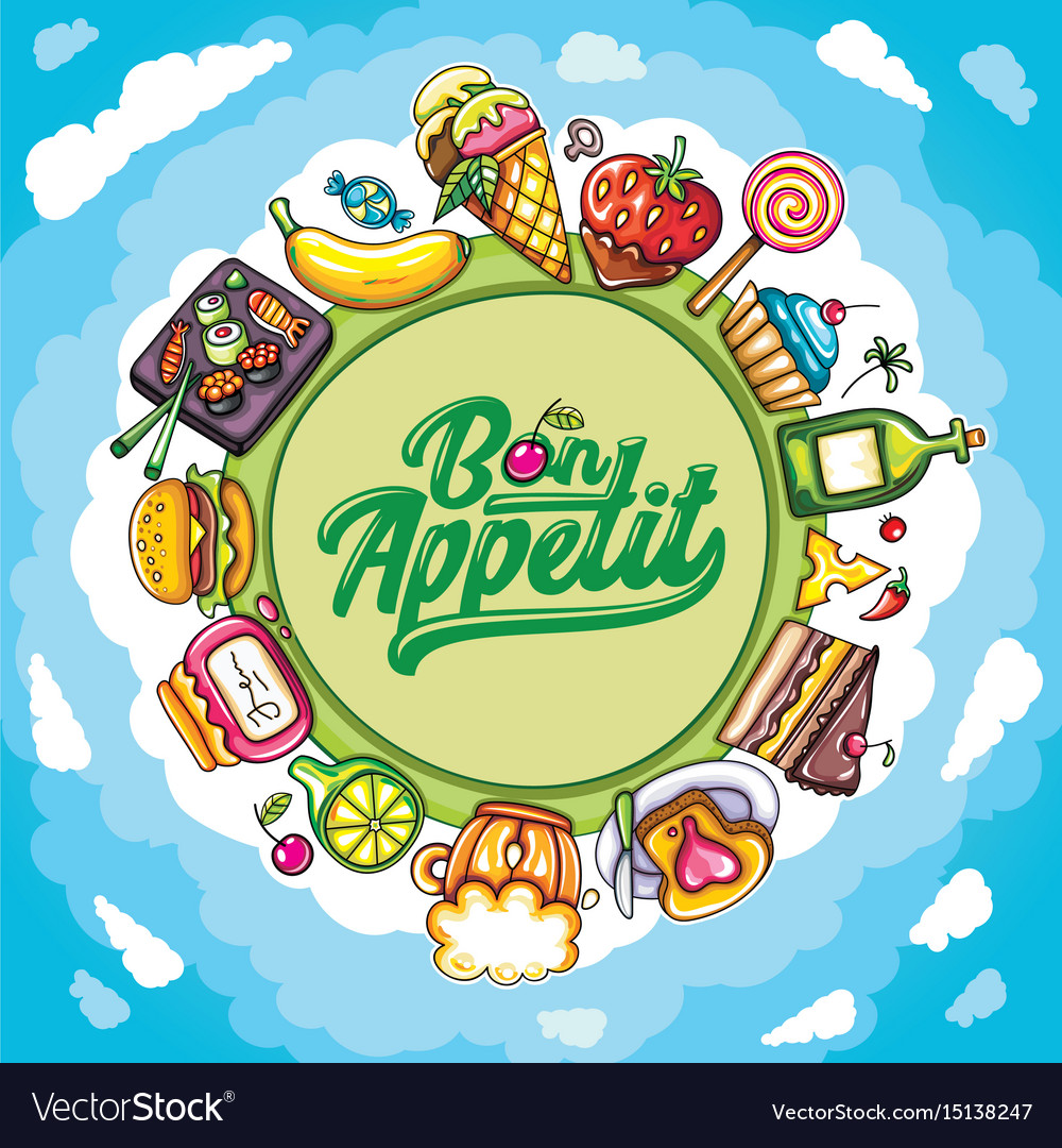 Food planet series vector image