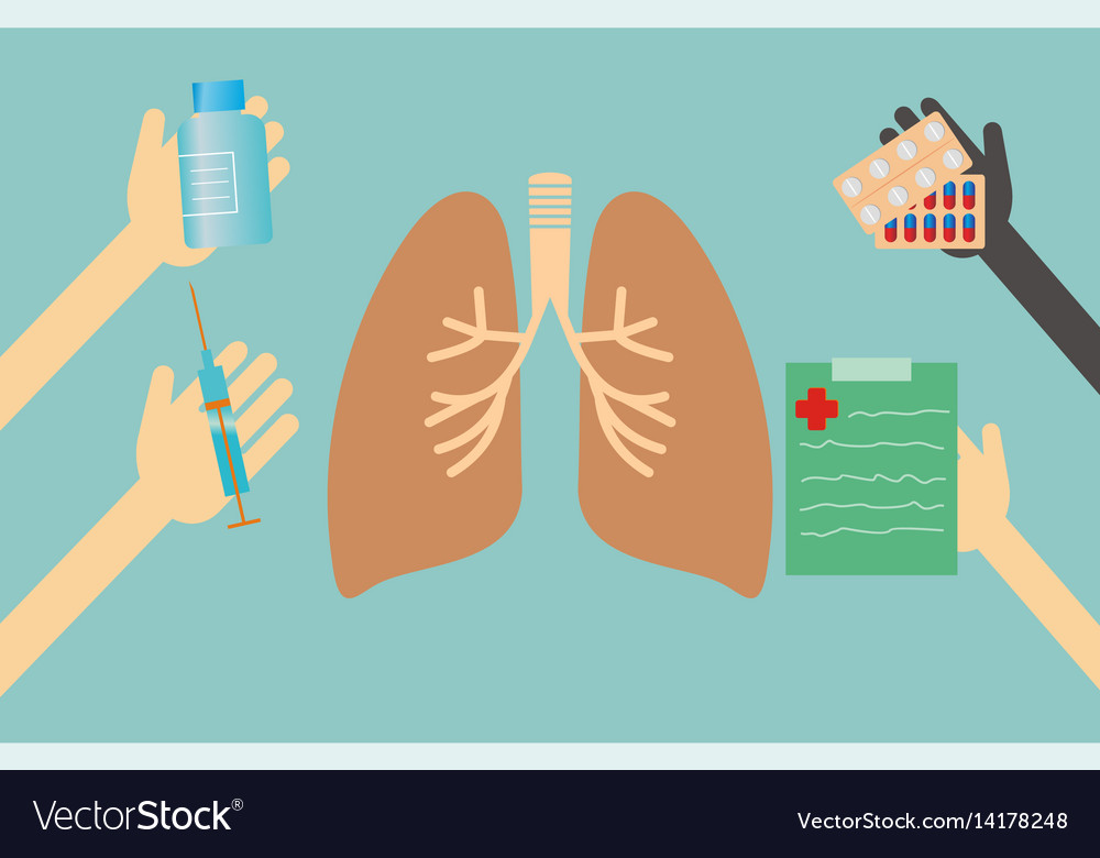 Healthcare concept - lungs vector image