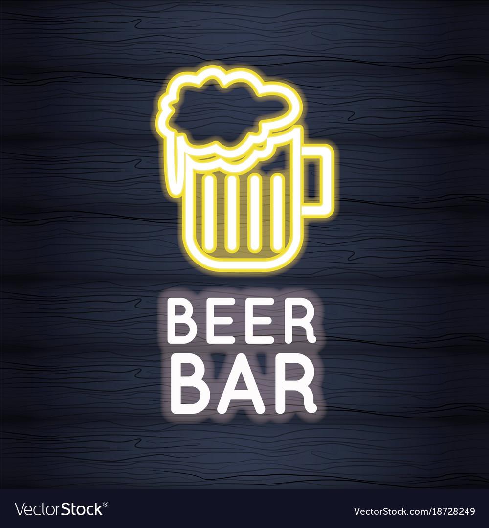 Beer bar neon lights royalty free vector image beer bar neon lights vector image mozeypictures Gallery