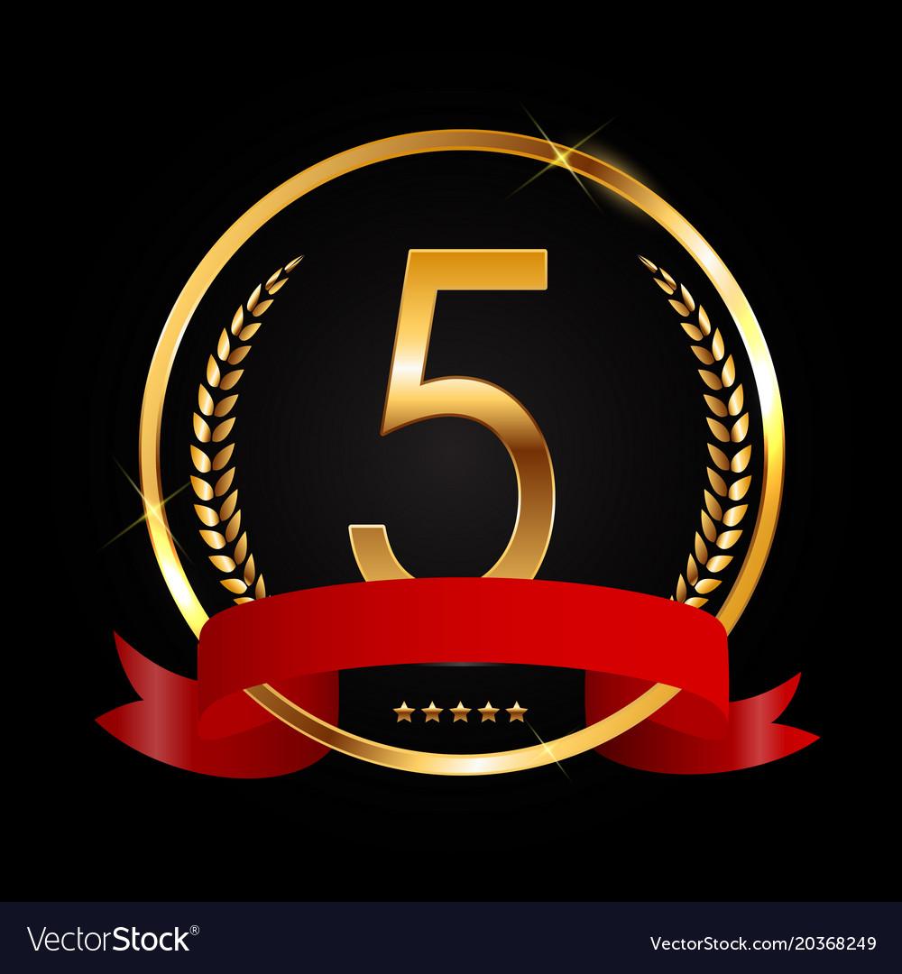 Template logo 5 years anniversary royalty free vector image template logo 5 years anniversary vector image biocorpaavc Choice Image