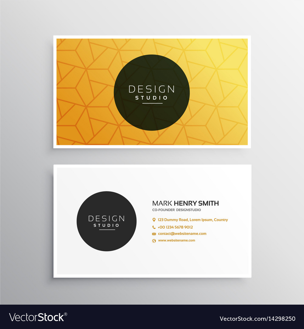 Clean minimal business card template with pattern Vector Image