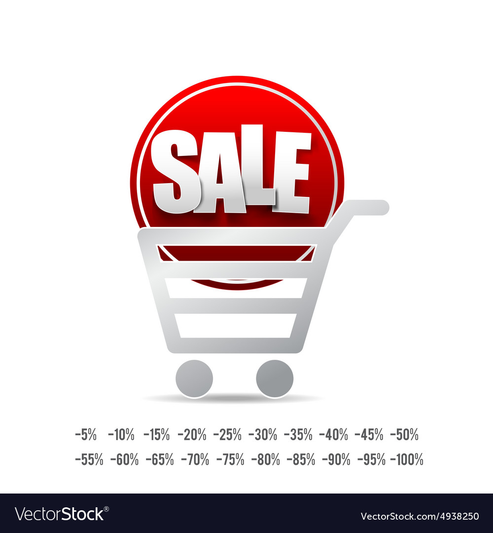 Sale text with tag banner on white background 007 vector image