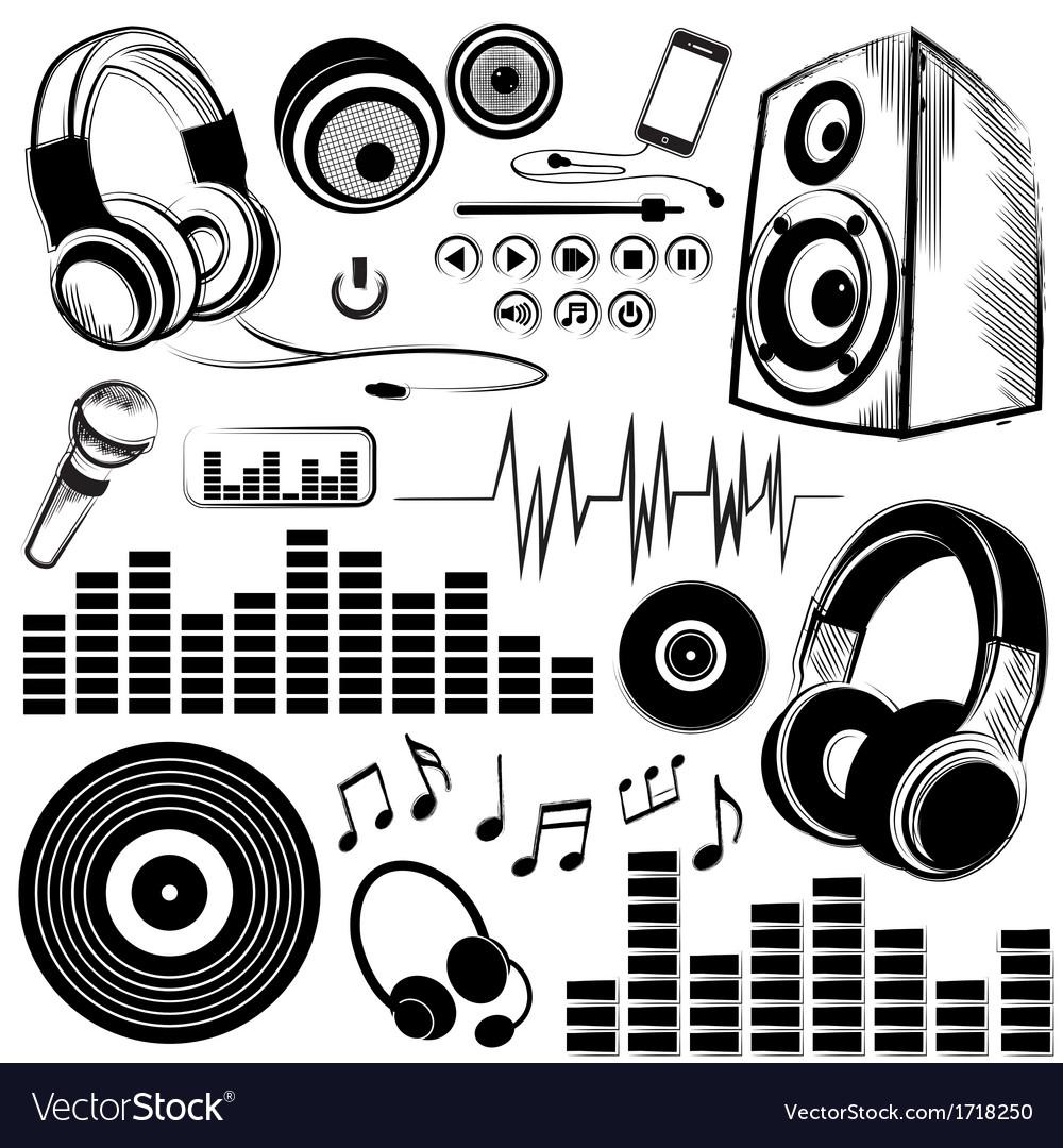 Set of sketchy music symbols and icons royalty free vector set of sketchy music symbols and icons vector image buycottarizona
