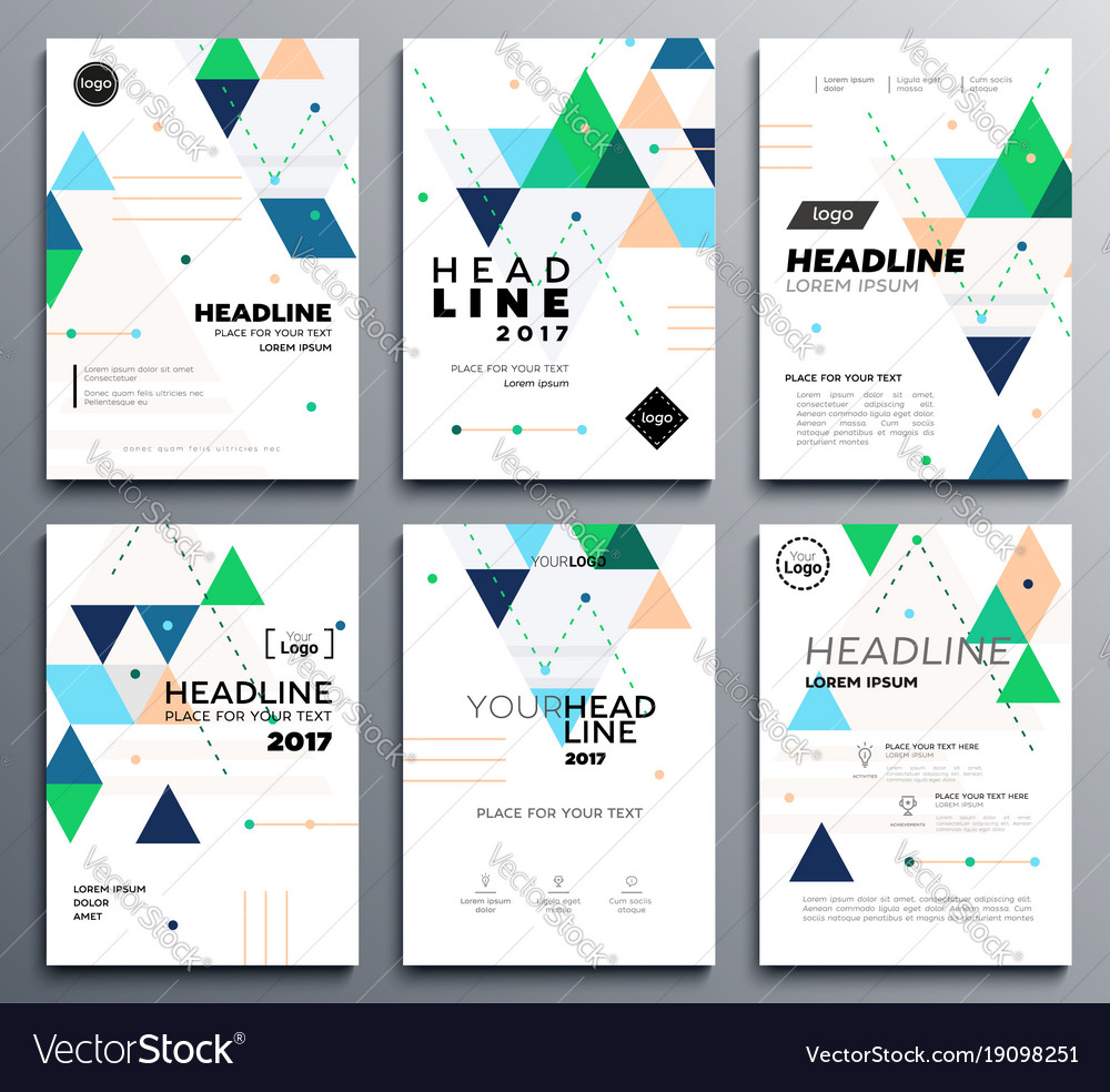 Presentation booklet cover - template a4 Vector Image