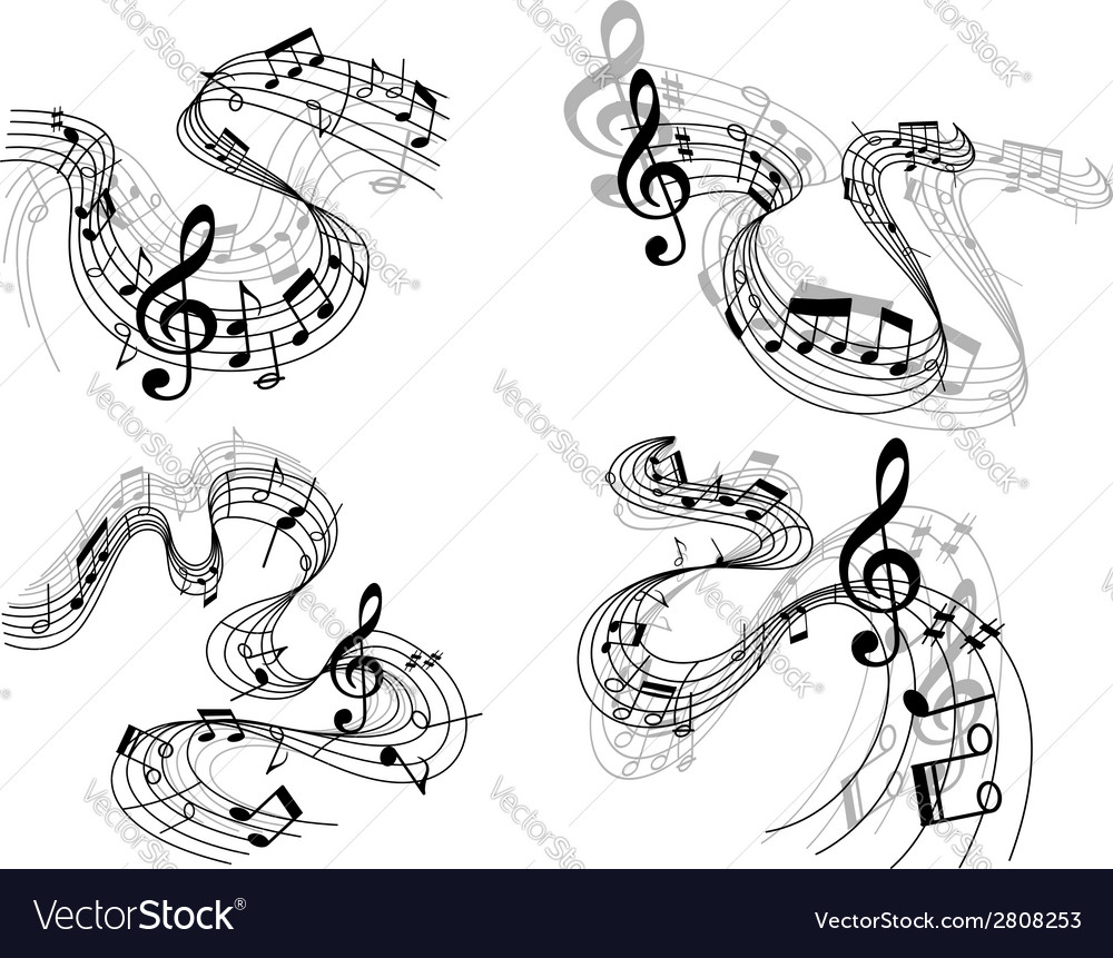 Abstract musical compositions vector image