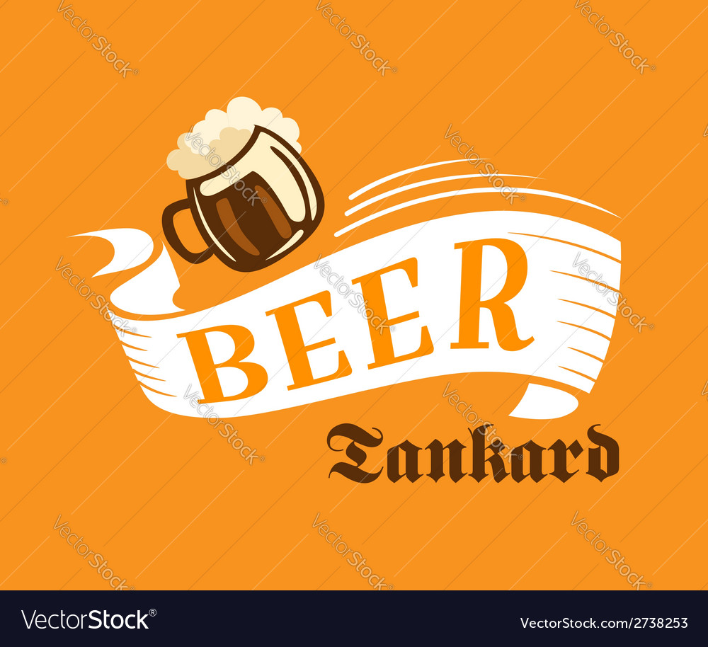 Brewery poster with beer tankard vector image