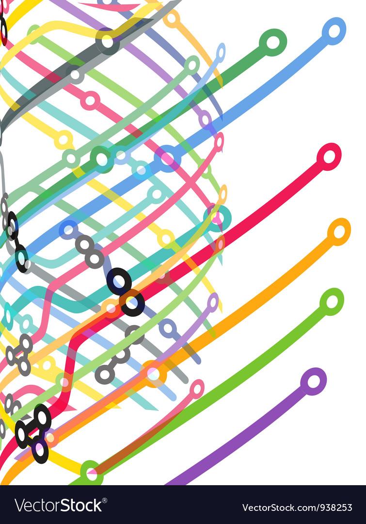 Computer network vector image