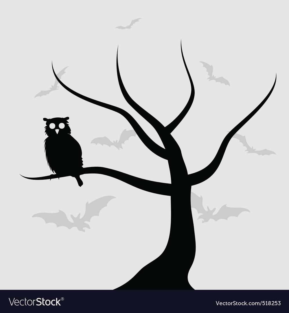Halloween owl Royalty Free Vector Image - VectorStock