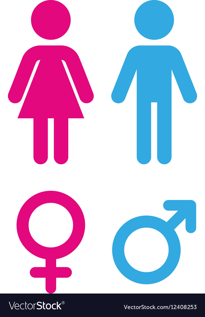 Man and woman - Sign toilet vector image