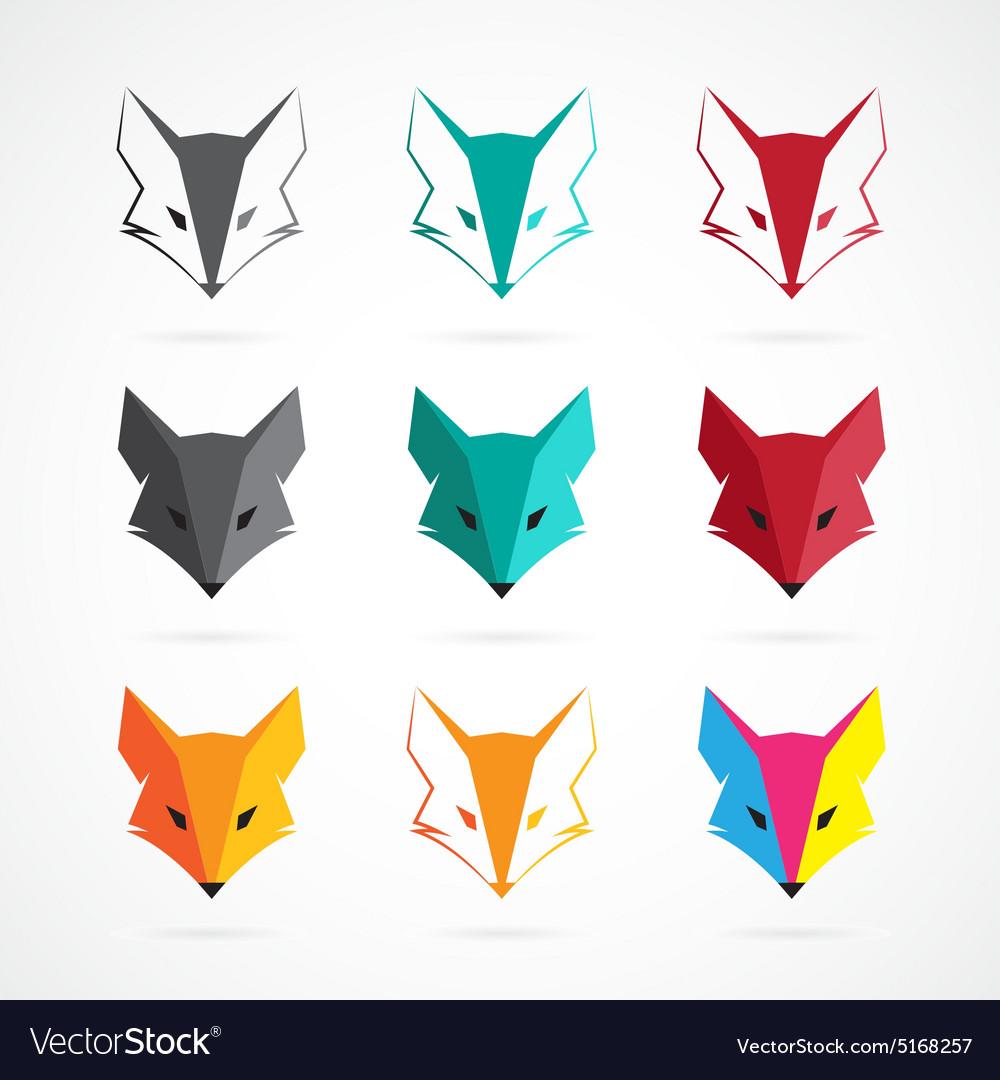 Fox face vector image