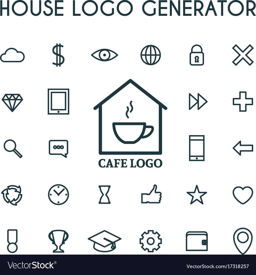 House logo generator vector image