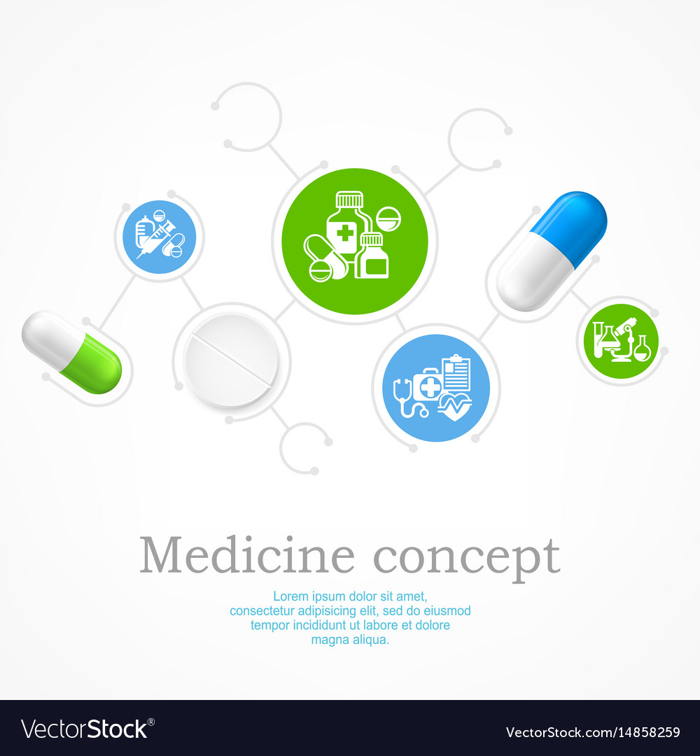 Medical color infographic vector image