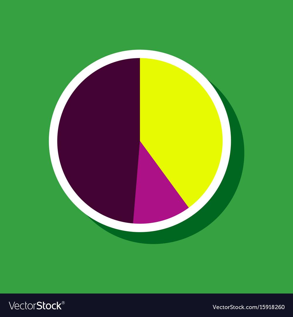 Paper sticker on stylish background pie chart vector image nvjuhfo Choice Image