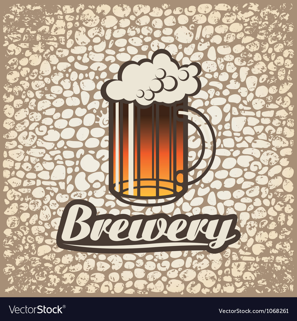 Beer wall vector image