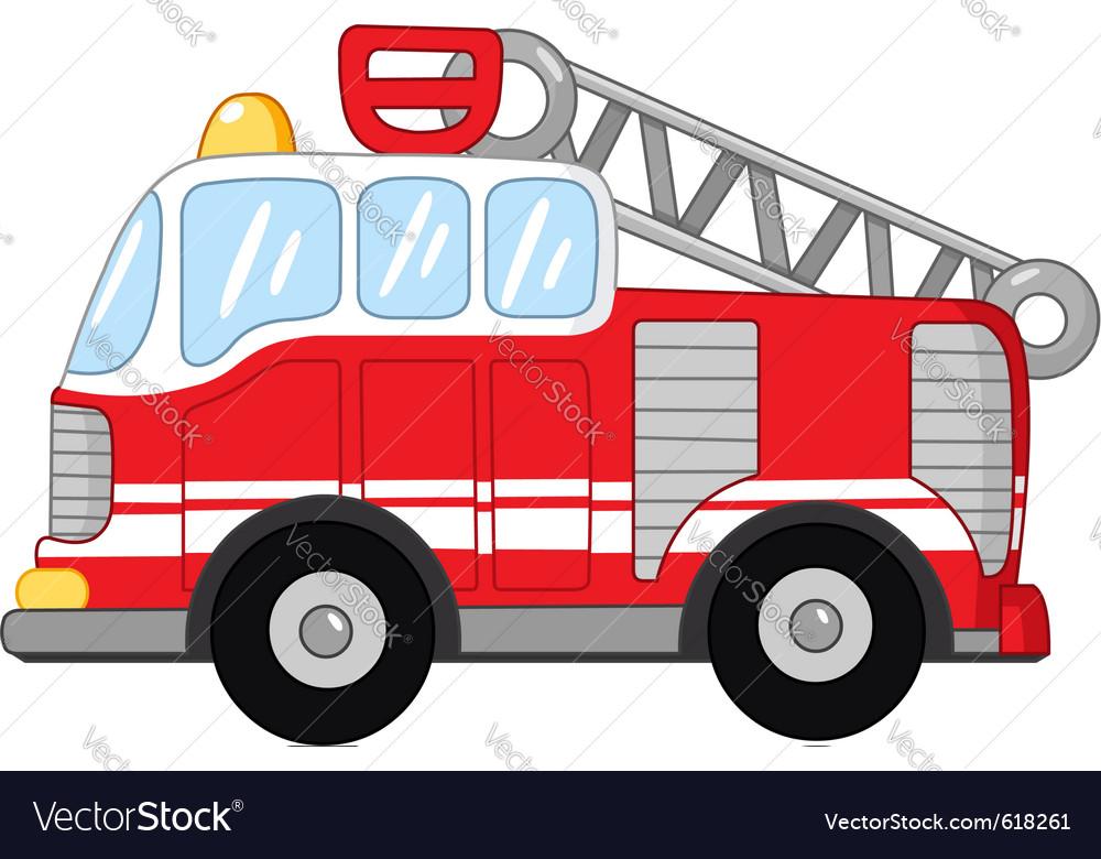 Fire Truck Royalty Free Vector Image Vectorstock