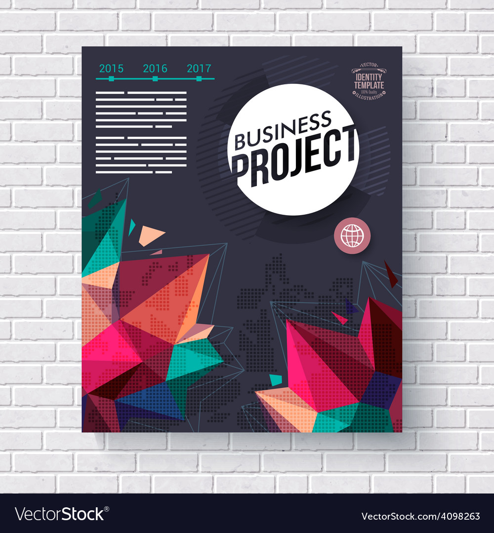 Business project template vector image