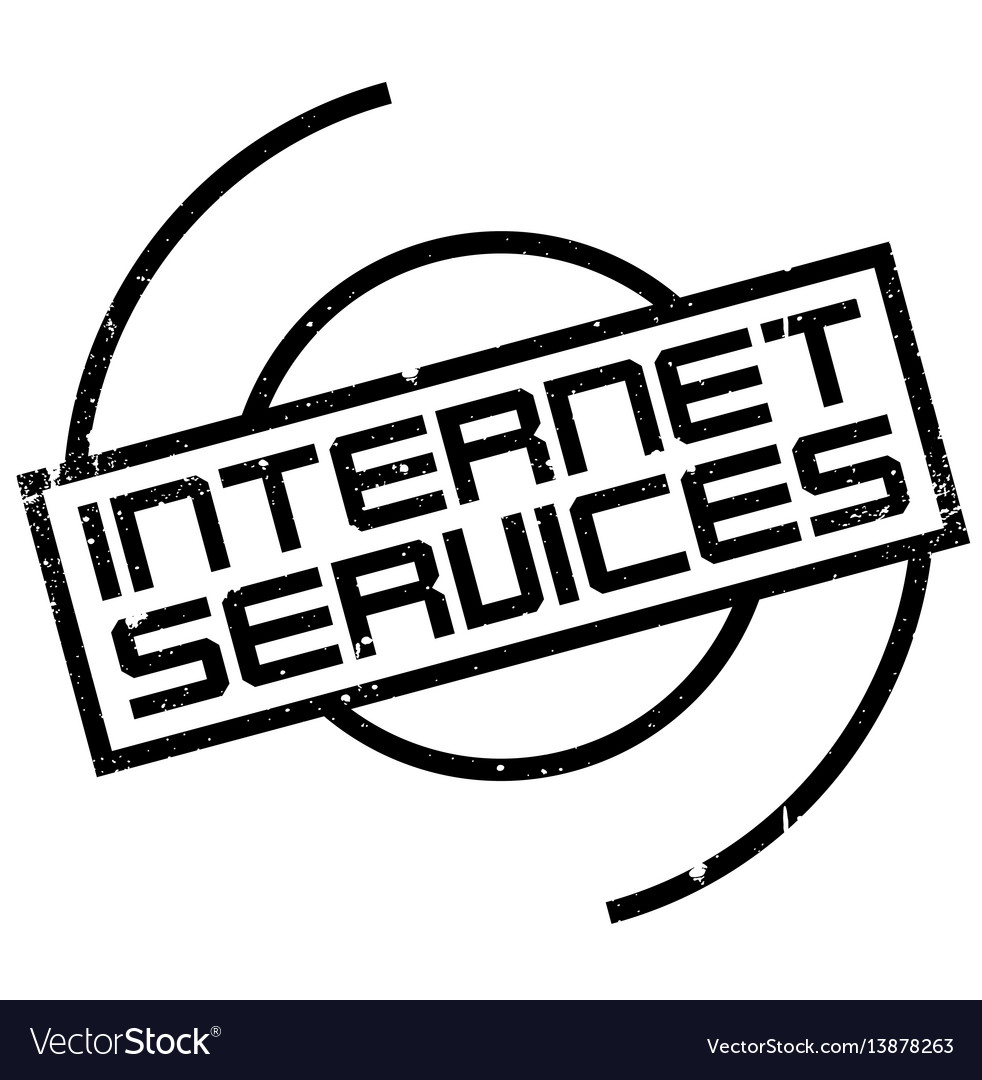 Internet services rubber stamp vector image