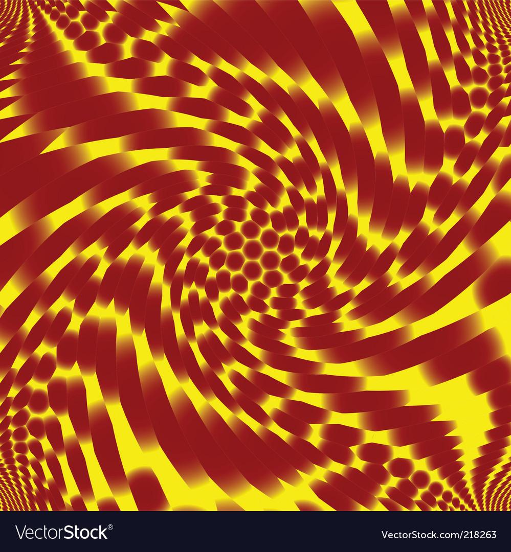 Retro spiral vector image