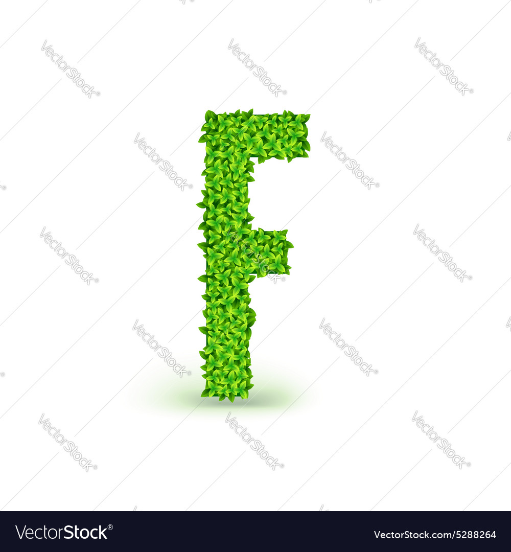 Green leaves font f royalty free vector image vectorstock green leaves font f vector image biocorpaavc Gallery