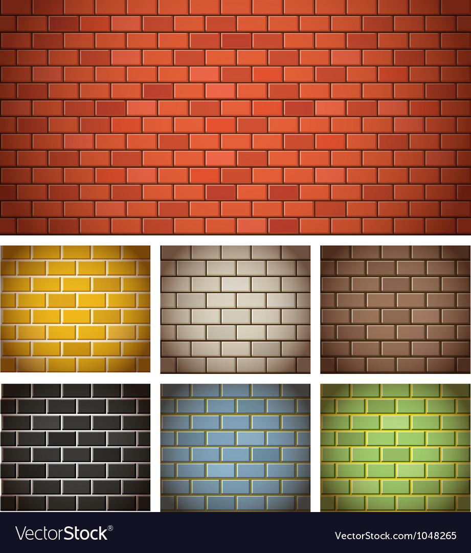 Brick wall template vector image