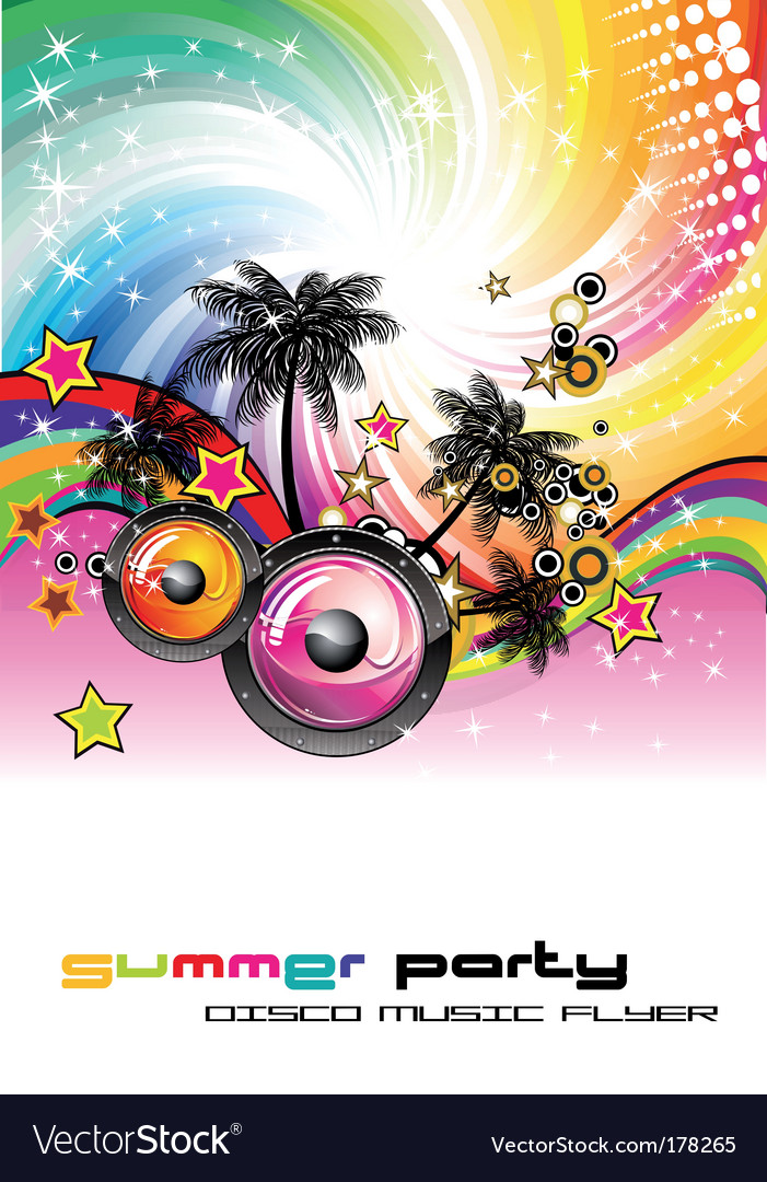 Dance Party Flyer Royalty Free Vector Image  Vectorstock
