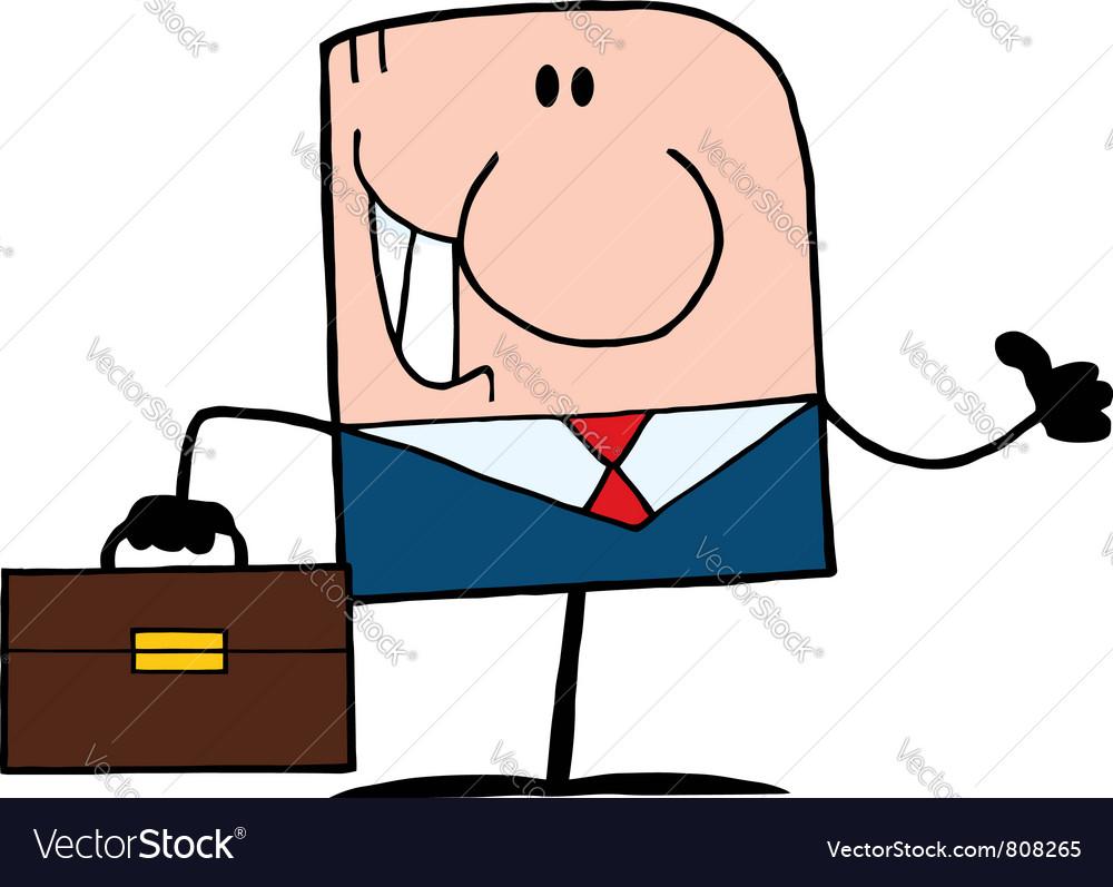 Thumbs Up Caucasian Businessman vector image