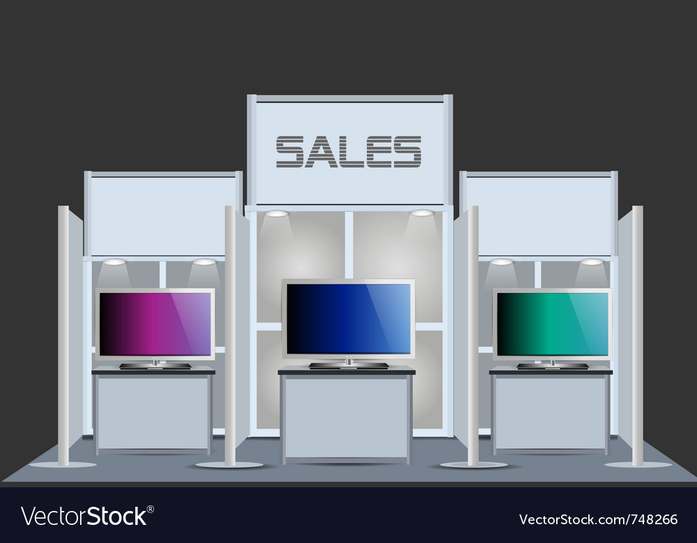 Exhibition stand vector image