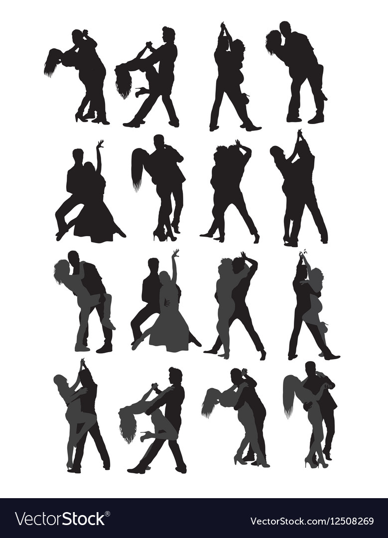 Dancing Couple Silhouette vector image