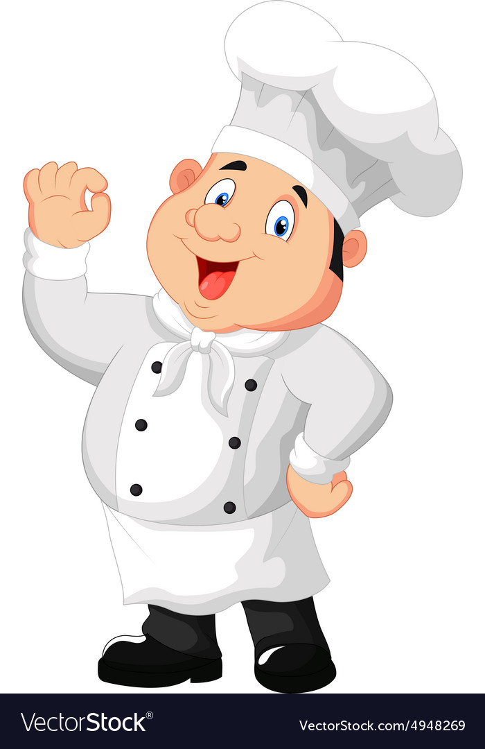 Gourmet chef giving an okay sign vector image