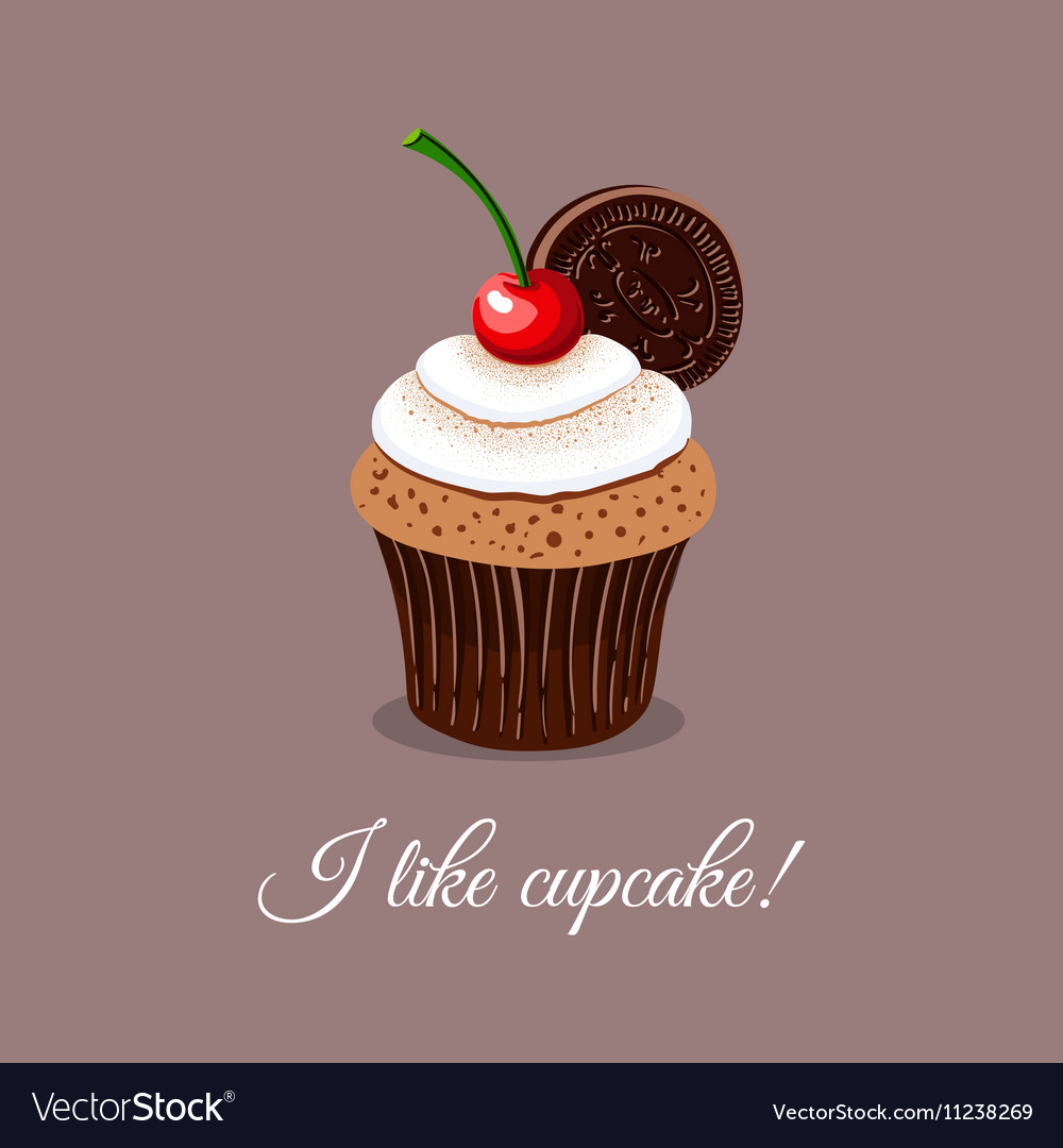 I Like Cupcake vector image