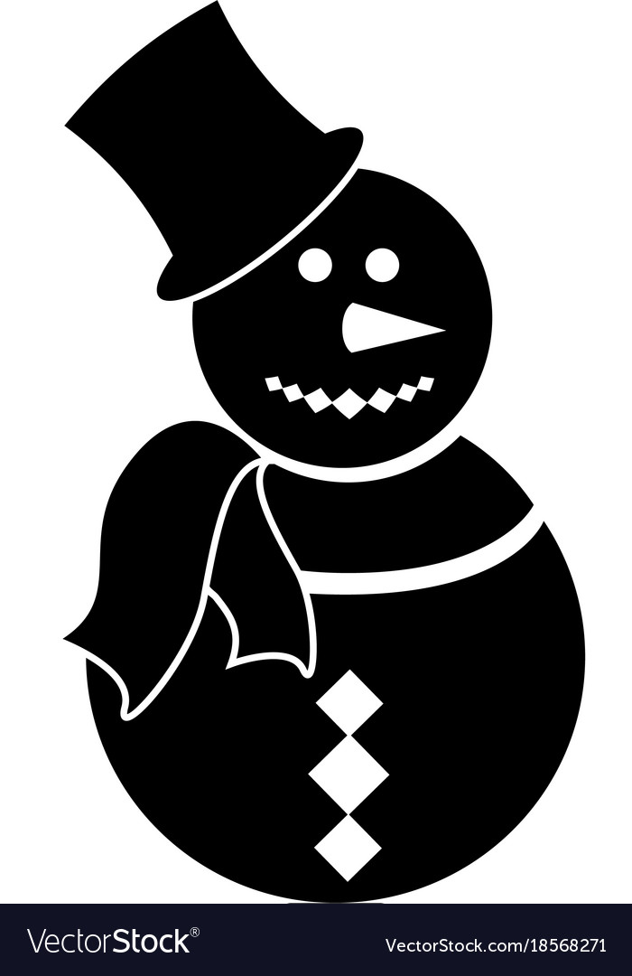 snowman silhouettes vector image snowman silhouette icon winter hat clip art template winter hat clipart black and white