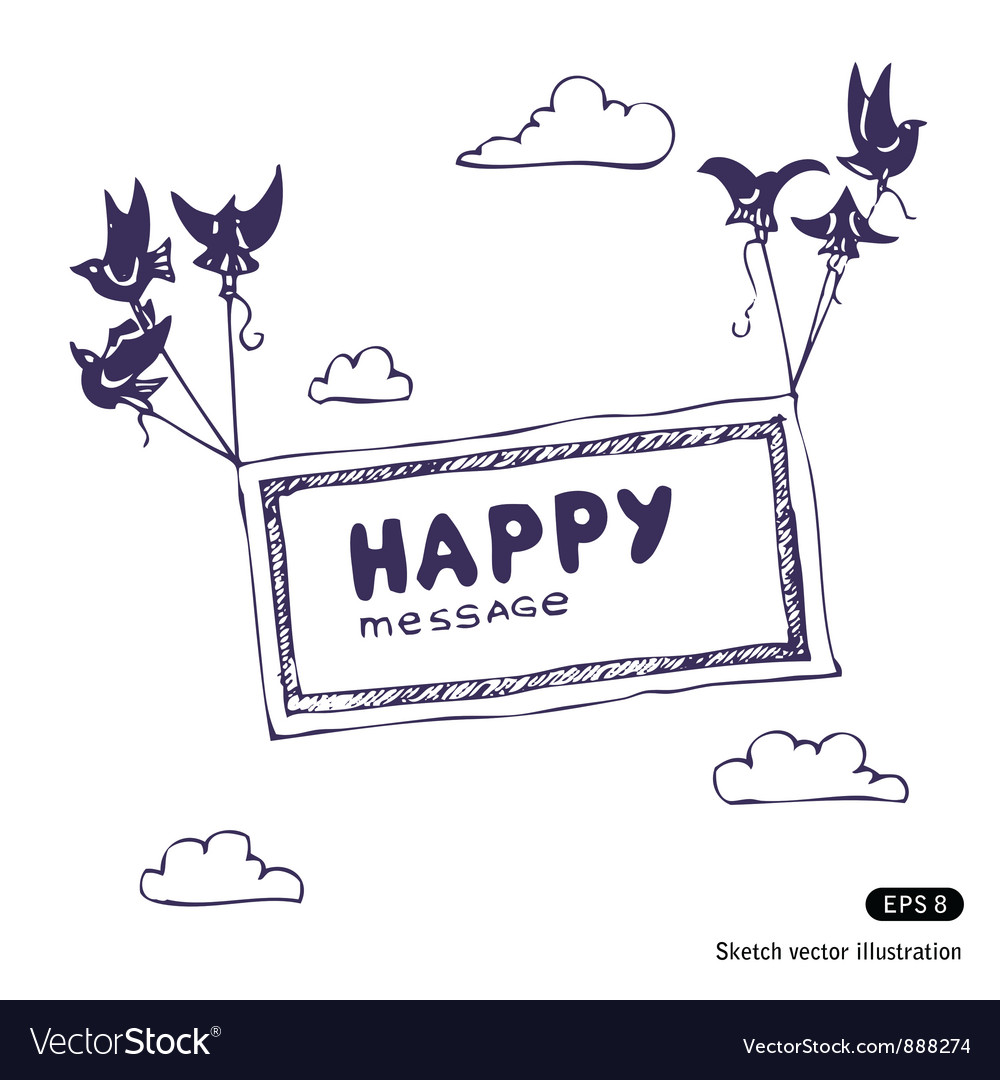 Banner with the birds in the sky Vector Image