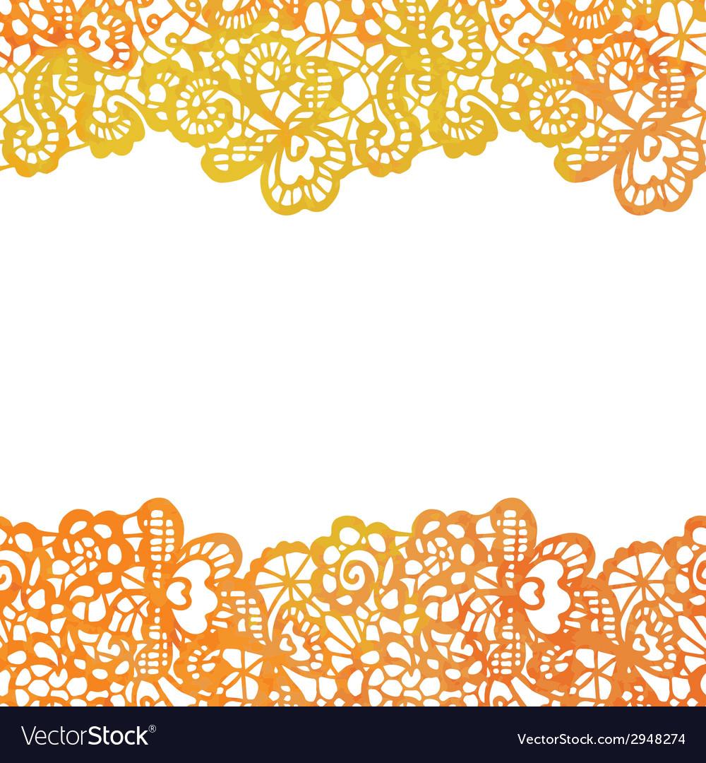 Lacy elegant border Invitation card Royalty Free Vector – Invitation Card Border Design