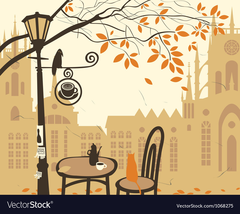 Cafe castle vector image